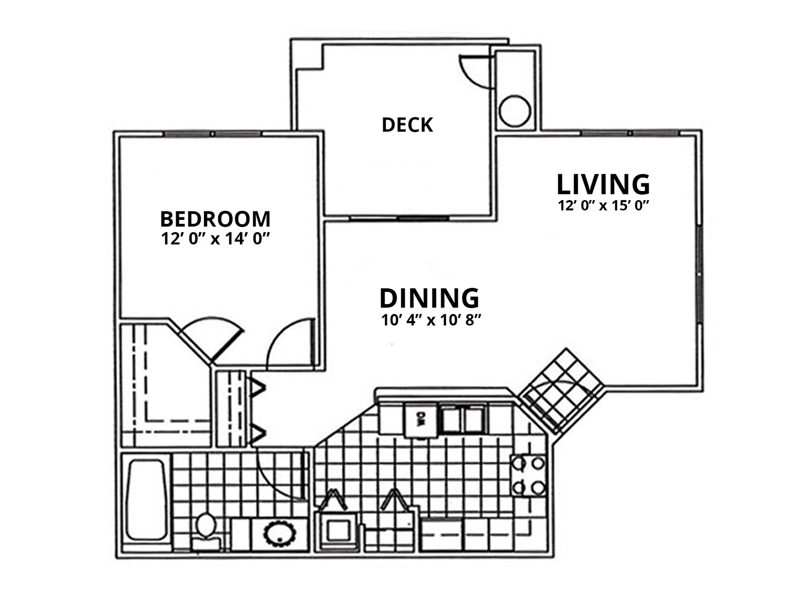 1 Bed; 1 Bathroom